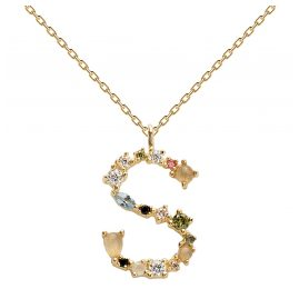 P D Paola CO01-114-U Women's Necklace Letter S