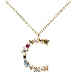 P D Paola CO01-098-U Women's Necklace Letter C