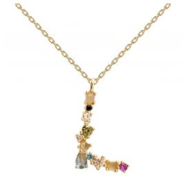 P D Paola CO01-107-U Women's Necklace Letter L