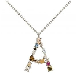 P D Paola CO02-096-U Women's Necklace Letter A Silver