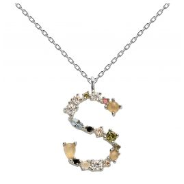 P D Paola CO02-114-U Women's Necklace Letter S Silver