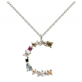 P D Paola CO02-098-U Women's Necklace Letter C Silver