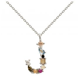 P D Paola CO02-105-U Women's Necklace Letter J Silver