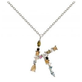 P D Paola CO02-106-U Women's Necklace Letter K Silver