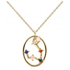 P D Paola CO01-343-U Women's Necklace Star Sign Pisces Gold Plated Silver