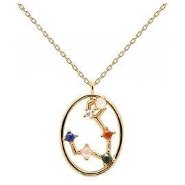 P D Paola CO01-343-U Damen-Halskette Sternzeichen Fische Silber vergoldet