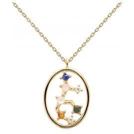 P D Paola CO01-349-U Damen-Halskette Sternzeichen Jungfrau Silber vergoldet