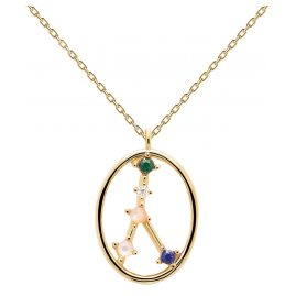 P D Paola CO01-347-U Women's Necklace Star Sign Cancer Gold Plated Silver