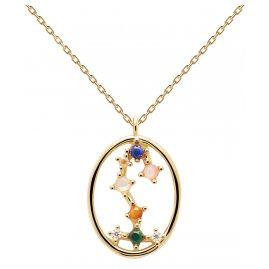 P D Paola CO01-351-U Damen-Halskette Sternzeichen Skorpion Silber vergoldet