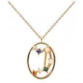 P D Paola CO01-350-U Damen-Halskette Sternzeichen Waage Silber vergoldet