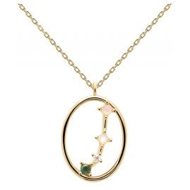 P D Paola CO01-344-U Ladies' Necklace Star Sign Aries Gold Plated Silver
