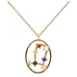 P D Paola CO01-346-U Damen-Kette Sternzeichen Zwilling Silber vergoldet