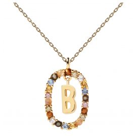 P D Paola CO01-261-U Ladies' Necklace Letter B Gold Plated Silver