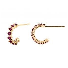 P D Paola AR01-100-U Women's Hoop Earrings Violet Bird