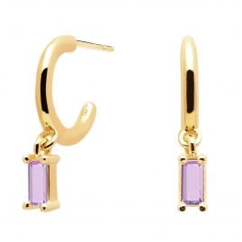 P D Paola AR01-117-U Ladies' Hoop Earrings Purple Alia
