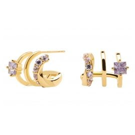 P D Paola AR01-246-U Ladies' Hoop Earrings Royal