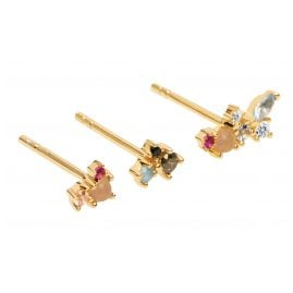 P D Paola AR01-209-U Women's Stud Earrings Set of 3 La Palette