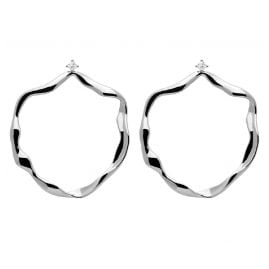 P D Paola AR02-068-U Women's Hoop Earrings Akari Silver