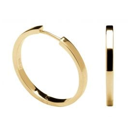 P D Paola AR01-031-U Women's Hoop Earrings Gold Tone