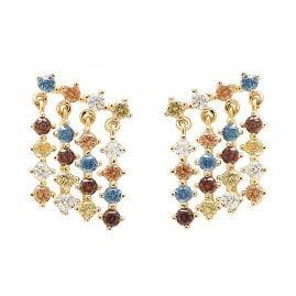 P D Paola AR01-293-U Damen-Ohrringe Willow Ohrhänger Silber vergoldet
