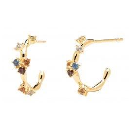 P D Paola AR01-289-U Women's Earrings Gold-Plated Silver