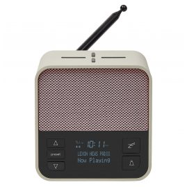 Lexon LA117GP Radio Clock Oslo News DAB+ FM Light-Grey / Pink