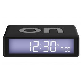 Lexon LR150NO Radio-Controlled Alarm Clock Flip+ Black