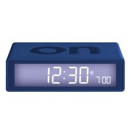 Lexon LR150DB9 Radio-Controlled Alarm Clock Flip+ Dark Blue