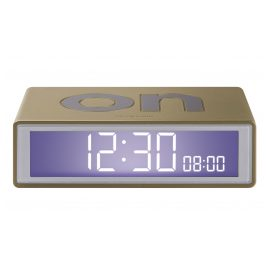 Lexon LR151D9 Alarm Clock Flip+ Travel Gold Tone