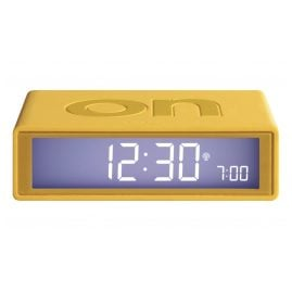 Lexon LR150J9 Alarm Clock Flip+ Rubber Yellow Radio-Controlled