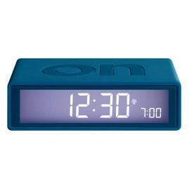 Lexon LR150BF9 Alarm Clock Flip+ Rubber Duck Blue Radio-Controlled