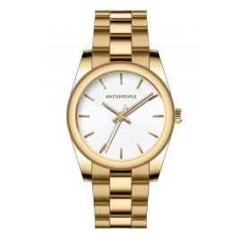 Watchpeople BSL026-01 Brown Sugar Women's Watch Audrey Gold Tone/White