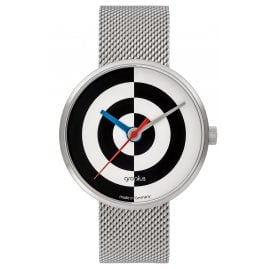 Walter Gropius WG005-08M Armbanduhr J. Albers mit Milanaiseband Schwarz/Weiß