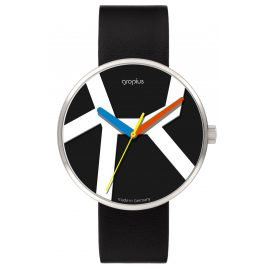 Walter Gropius WG011-02 Unisex Watch Move with Black Leather Strap