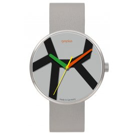 Walter Gropius WG011-05 Watch Move with Light Grey Leather Strap
