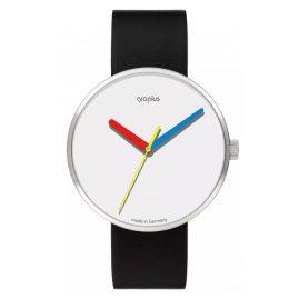Walter Gropius WG017-01 Armbanduhr Simplex mit Lederband Schwarz