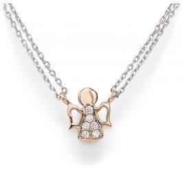 Amen CL2ABR Damen-Kette Engel Rosé 925 Silber