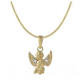 Acalee 50-1016 Kinder-Halskette mit Engel-Anhänger 333 / 8K Gold