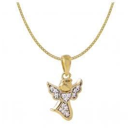 Acalee 50-1018 Halskette für Kinder mit Engel-Anhänger 333 / 8K Gold
