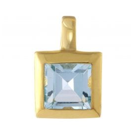 Acalee 80-1004-01 Gold Pendant 333 / 8K Yellow Gold Topaz Blue