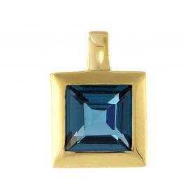 Acalee 80-1004-03 Gold Anhänger 333 / 8K Gelbgold Topas London Blau