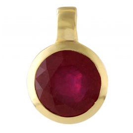 Acalee 80-1009-07 Gold Pendant 333 / 8K with Ruby