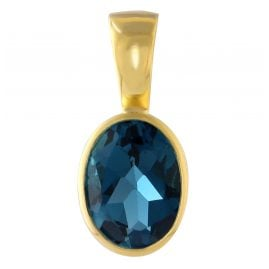 Acalee 80-1010-03 Gold Pendant 333 / 8K Gold with London Blue Topaz