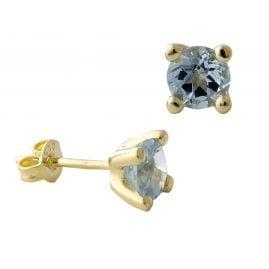Acalee 70-1015-01 Ohrringe Gold 333 / 8K Ohrstecker Topas Blau