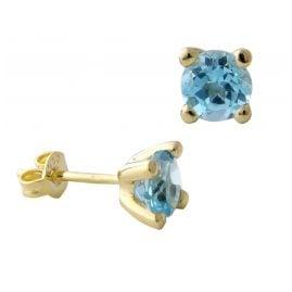Acalee 70-1015-02 Ohrstecker Gold 333 / 8K Ohrringe Topas Swiss Blau