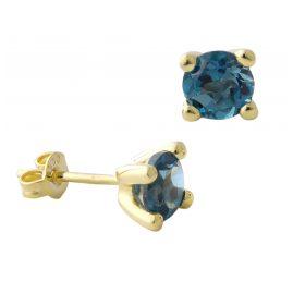 Acalee 70-1015-03 Ohrringe Gold 333 / 8K Ohrstecker Topas London Blau