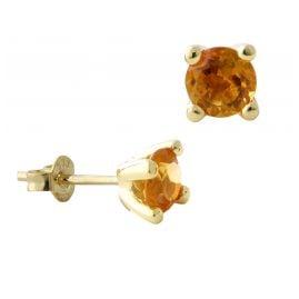 Acalee 70-1015-06 Women's Earrings Gold 333 / 8K Citrine Studs