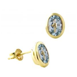 Acalee 70-1017-01 Damen-Ohrringe Ohrstecker Gold 333 / 8K mit Topas Blau