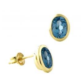 Acalee 70-1017-02 Ohrringe Gold 333 / 8K mit Topas Swiss Blau