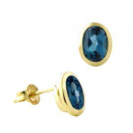 Acalee 70-1017-03 Damen-Ohrringe Gold 333 / 8K mit Topas London Blau